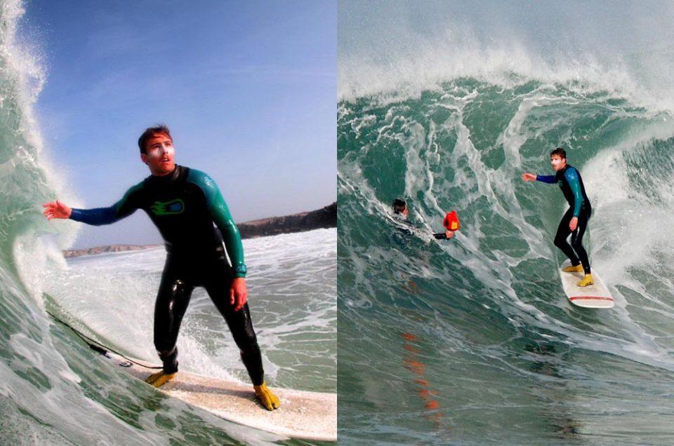 De la falaise à la vague